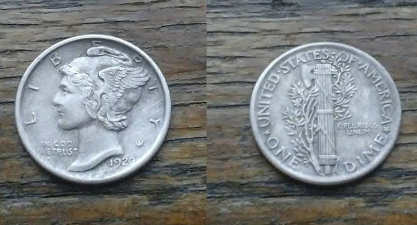 On my very first hole i got a solid 88 signal and from about 8″ pulled the 1920 Mercury dime