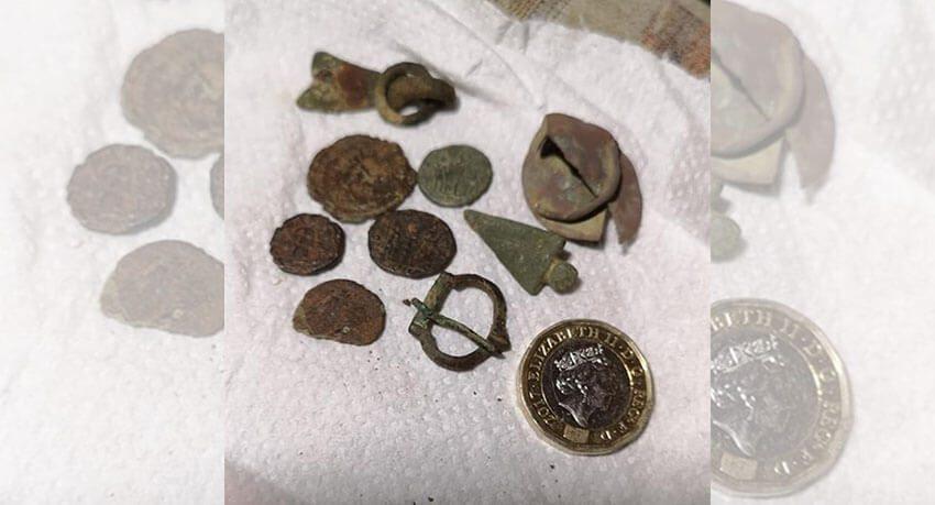 Хороший улов римских монет