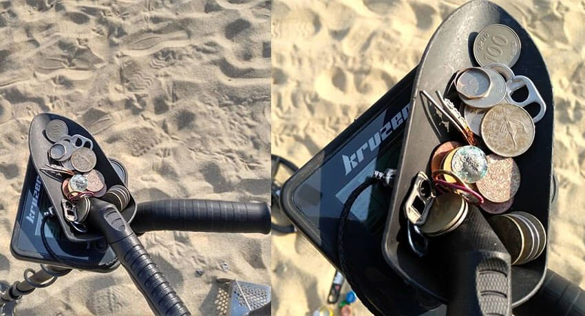 Beach metal detecting with Kruzer