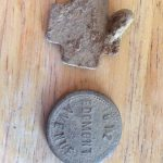 Old dog tag and some kind of token 2