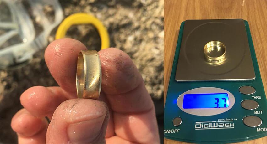 Anel de ouro 14k puxado