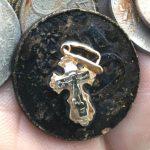 585 (14k) pendant + coins