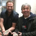 Me (left) and Michael sharing the delight of the hoard's discovery