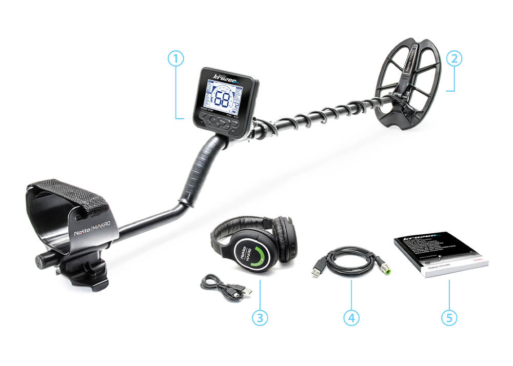 Nokta Makro Multi Kruzer Metal Detector Package Contents