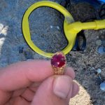 Red ruby stone gold ring