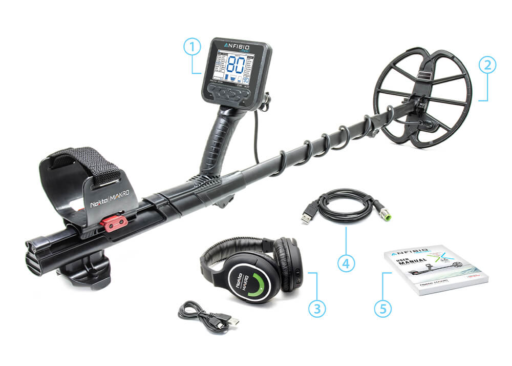 Nokta Makro Anfibio Multi Metal Detector Package Contents
