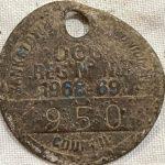 Нашли поджаренный пенни и полпенни 1951 года