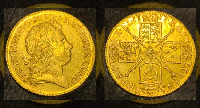 Георг I 1717 Гвинея Четвертая голова