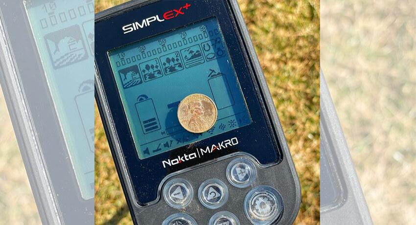 Minha primeira moeda com o novo detector
