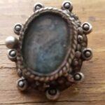 Кольцо с серебряным отсеком с фермерским полем - 1