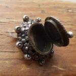 Кольцо с серебряным отсеком с фермерским полем - 3