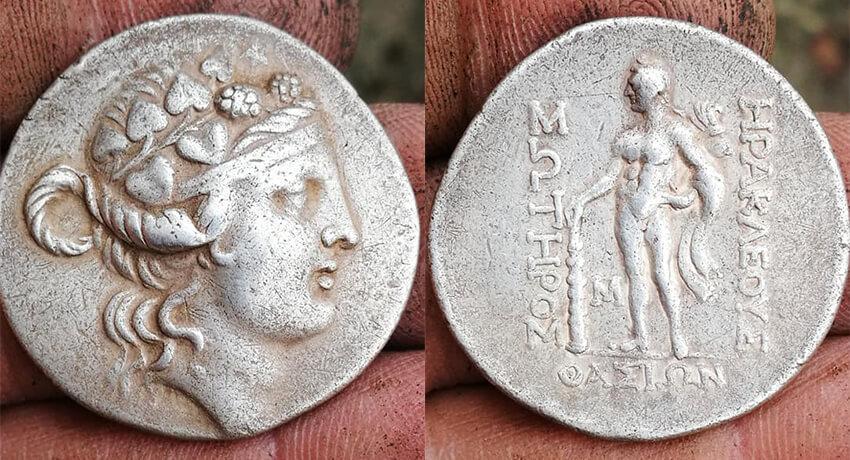 Zilveren Tetradrachme Van Thassos